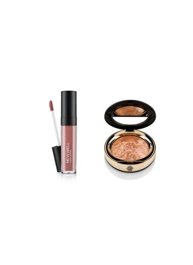 New Well Newwell Porcelain Make Up Lipstick D-204 6 Ml+Terracotta D-142 Allık Renkli